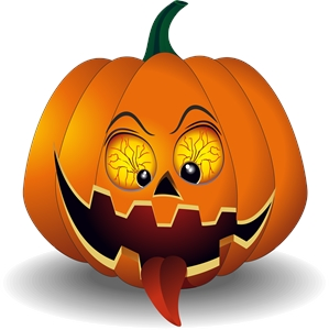 scary pumpkin Logo Vector