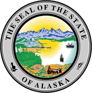 Seal of the state of Alaska Logo Vector