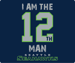 Seattle Seahawks 12 flag Logo Vector