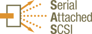 Serial Attached SCSI SAS Logo Vector
