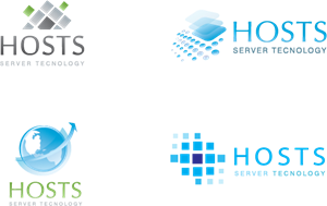 SERVER AND HOSTING Logo Vector