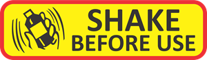 shake before use Logo Vector