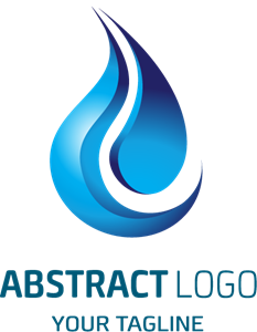 shaped blue flame Logo Vector