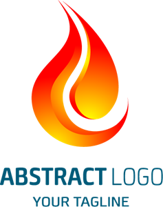 shaped red flame Logo Vector