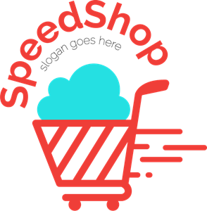 Shopping trolley Logo Vector