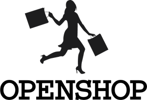 Shopping Woman Silhouette Logo Vector