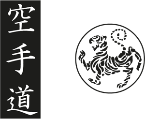 Shotokan tiger – karate do kanji Logo Vector