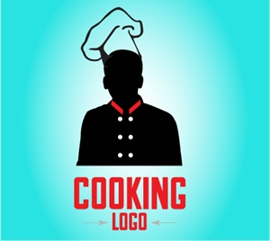 Silhouette Chef Cafe Logo Vector