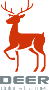 Simple deer Logo Vector