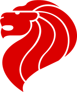 Singapore Lion Logo Vector