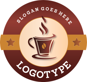 Sketchy Coffee Cup Logo Vector