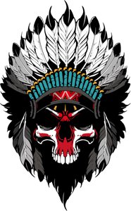Skull Indian Logo Vector