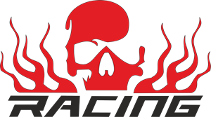 skull Racing Logo Vector