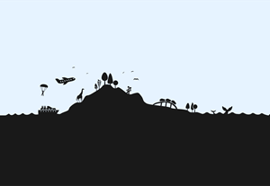 skyline travel activity silhouette Logo Vector