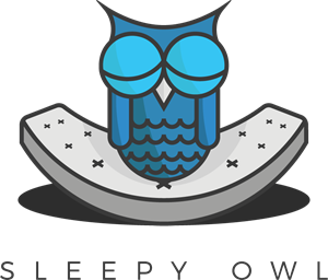 Sleepy owl Logo Vector