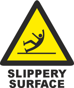 SLIPPERY SURFACE SIGN Logo Vector