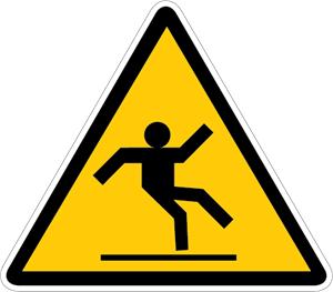 SLIPPERY SURFACE WARNING SIGN Logo Vector