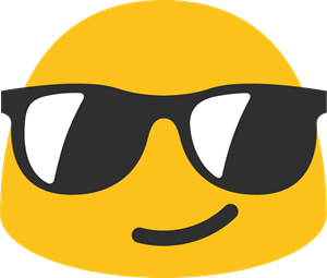Smile with Glasses Emoji Logo Vector