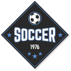 Soccer badge in vintage style Logo Vector