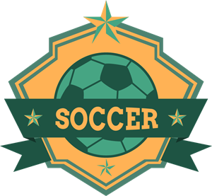 Soccer ribbon football club Logo Vector