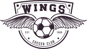 Soccer Wings Logo Vector