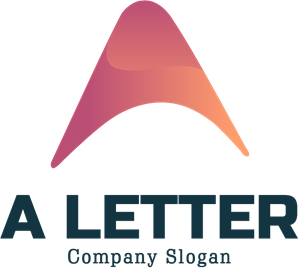Soft Angular with A Letter Logo Vector