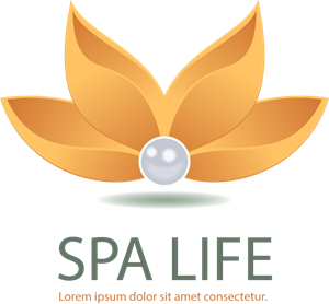 Spa flower Logo Vector