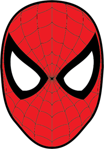Spiderman Mask Logo Vector