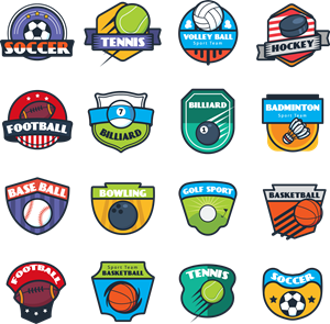Sport Collection Logo Vector