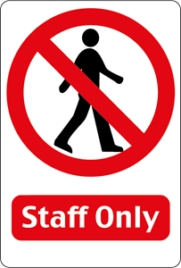 STAFF ONLY SIGN Logo Vector