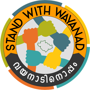 STAND WITH WAYANAD Logo Vector