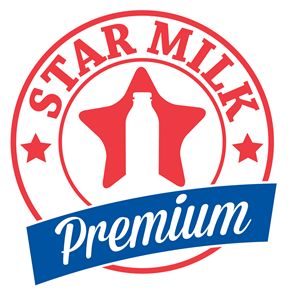 Star Milk Logo Vector