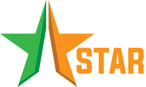 Star TV Show Media Logo Vector