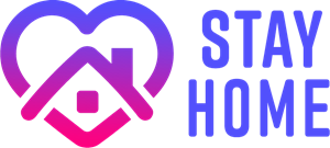Stay Home Logo Vector