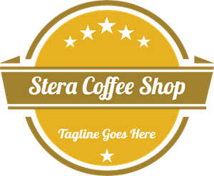 Stera Coffee Shop Logo Vector
