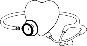 Stethoscope with Heart Logo Vector