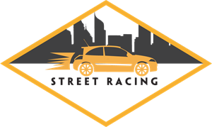 Street racing yellow car Logo Vector