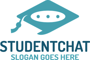 Student Chat Logo Vector
