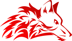 Stylish red wolf Logo Vector