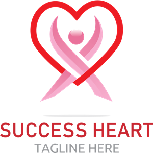 Success Heart Logo Vector