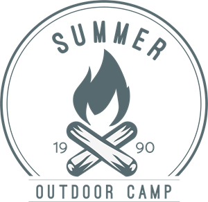 Summer outdoor camp Logo Vector