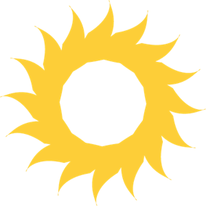 SUN SHAPE FOR DESIGN Logo Vector