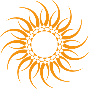 SUN-SHAPED Logo Vector