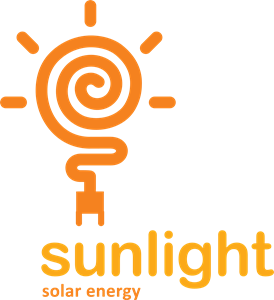 Sunlight Solar Energy Logo Vector