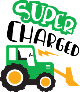 super charged tractor Logo Vector