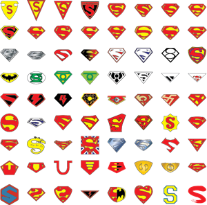 Superman and Batman Logo Vector