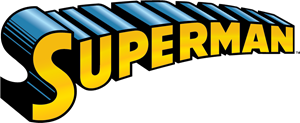 Superman Name Logo Vector