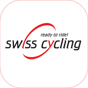 Swiss-Cycling mit Rand Logo Vector