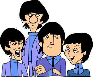 The Beatles cartoon Logo Vector