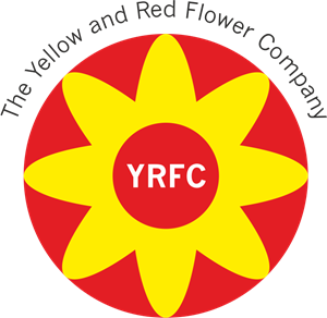 The Yellow and Red Flower Company Logo Vector